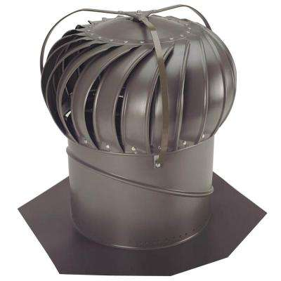 14 in. Weathered Bronze Aluminum Externally Braced Wind Turbine