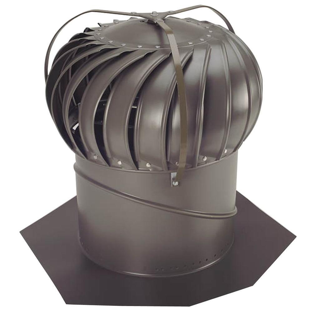14 in. Weathered Bronze Aluminum Externally Braced Wind Turbine