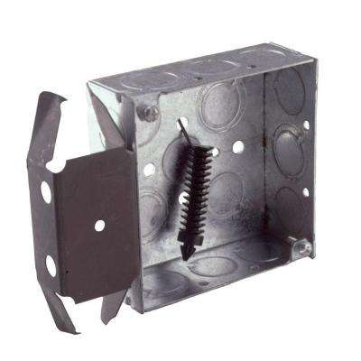4 in. Square Welded Box, 1-1/2 in. Deep with 1/2 and 3/4 in. TKO's with BOX-LOC Bracket (25-Pack)