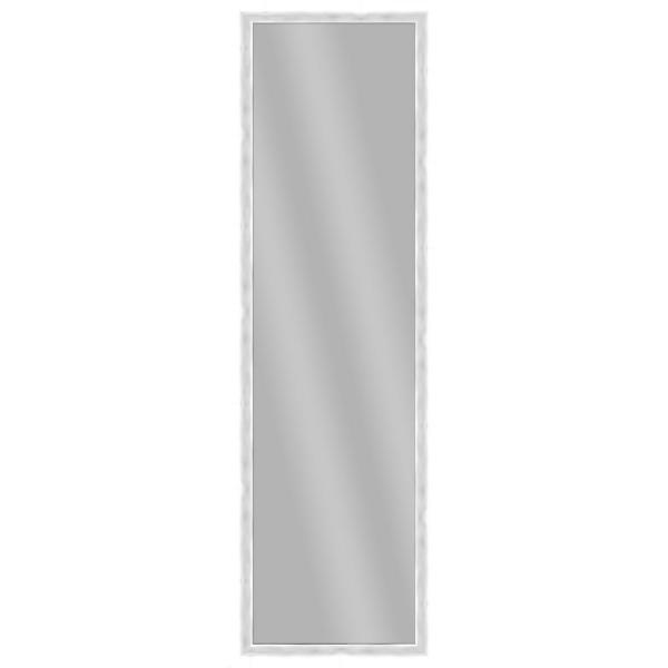 Large Rectangle White Art Deco Mirror (51.875 in. H x 15.875 in. W)