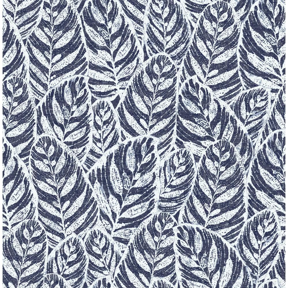 Scott Living Del Mar Indigo Botanical Strippable Wallpaper Covers 56.4 sq. ft.