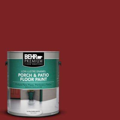 1 gal. #SC-112 Barn Red Low-Lustre Interior/Exterior Porch and Patio Floor Paint