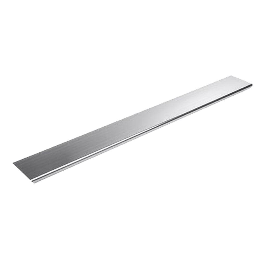Groove Aluminum Cover in Polished Chrome