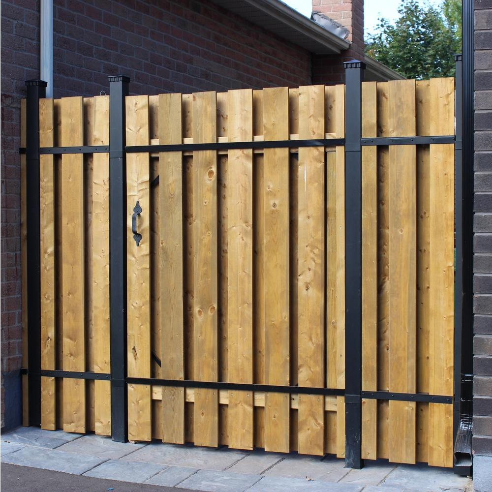Slipfence 4 Ft X 6 Ft Wood And Aluminum Fence Gate Sf2 Gk100 The