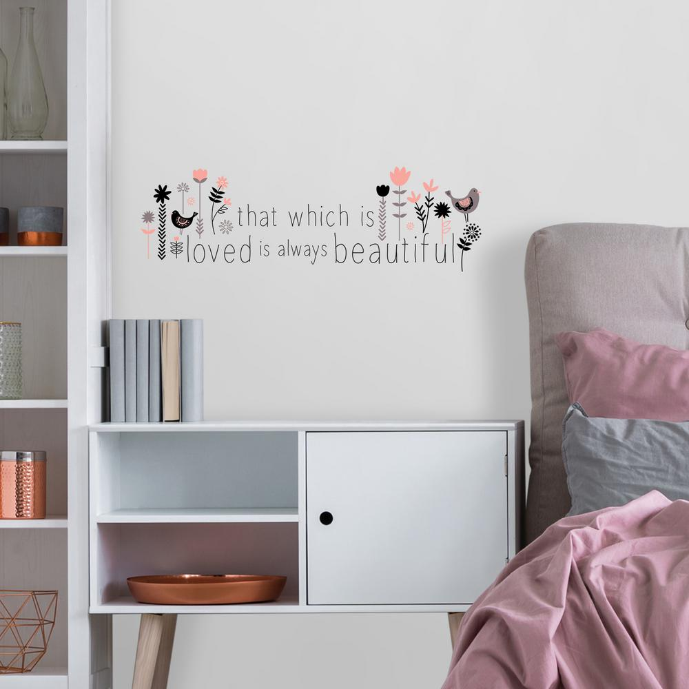 Multi That Which is Loved Wall Quote Decal