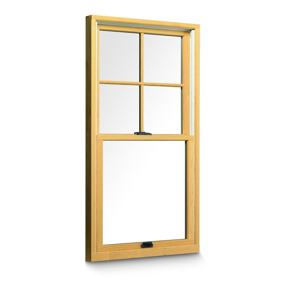 Andersen installed wood double hung windows hsinstandwtdh for Window treatments for double hung windows