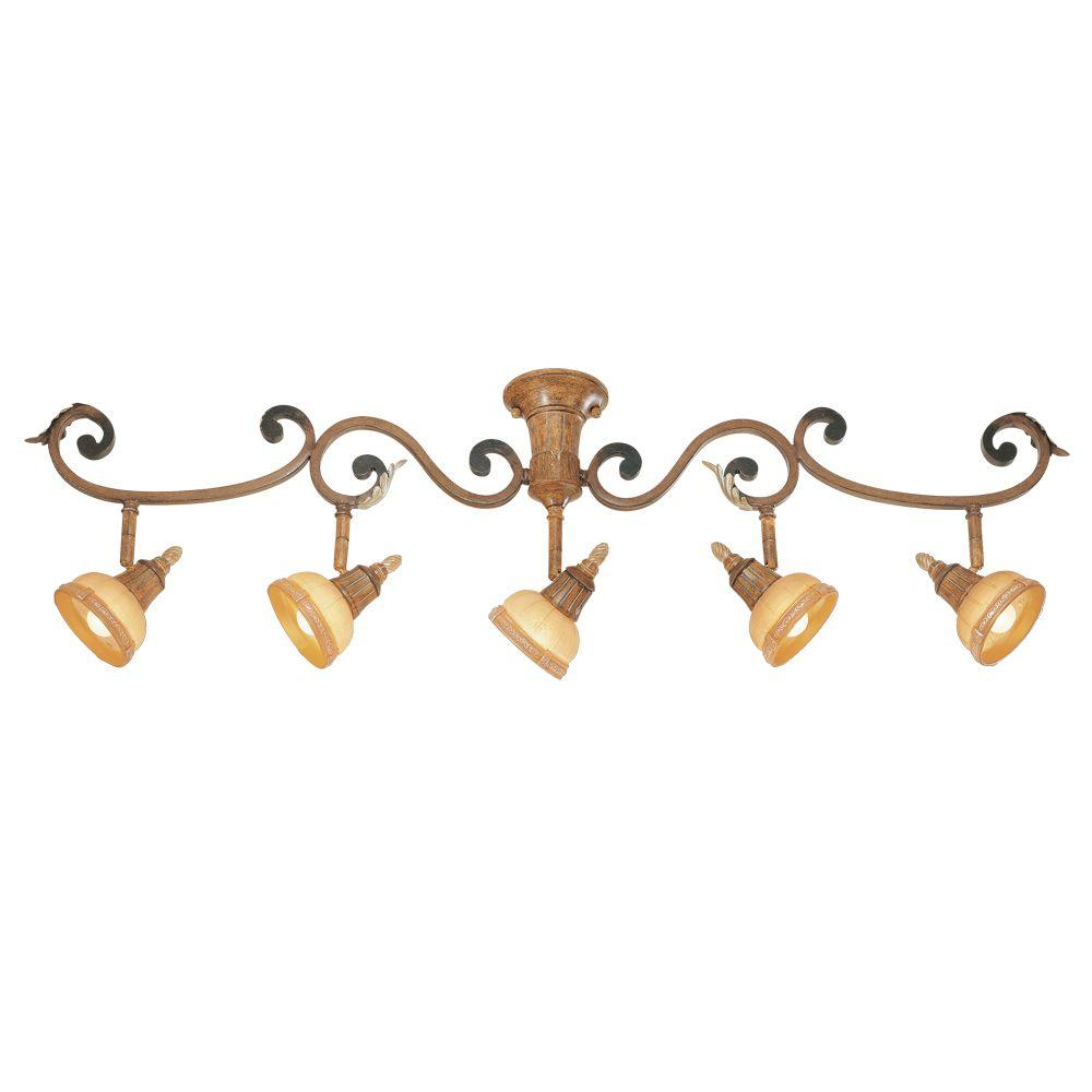 Eurofase Anenta Collection 5-Light Antique Gold Track-DISCONTINUED
