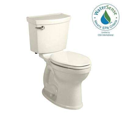 Champion 4 HET Tall Height 2-piece 1.28 GPF Single Flush High-Efficiency Round Toilet in Linen, Seat Not Included