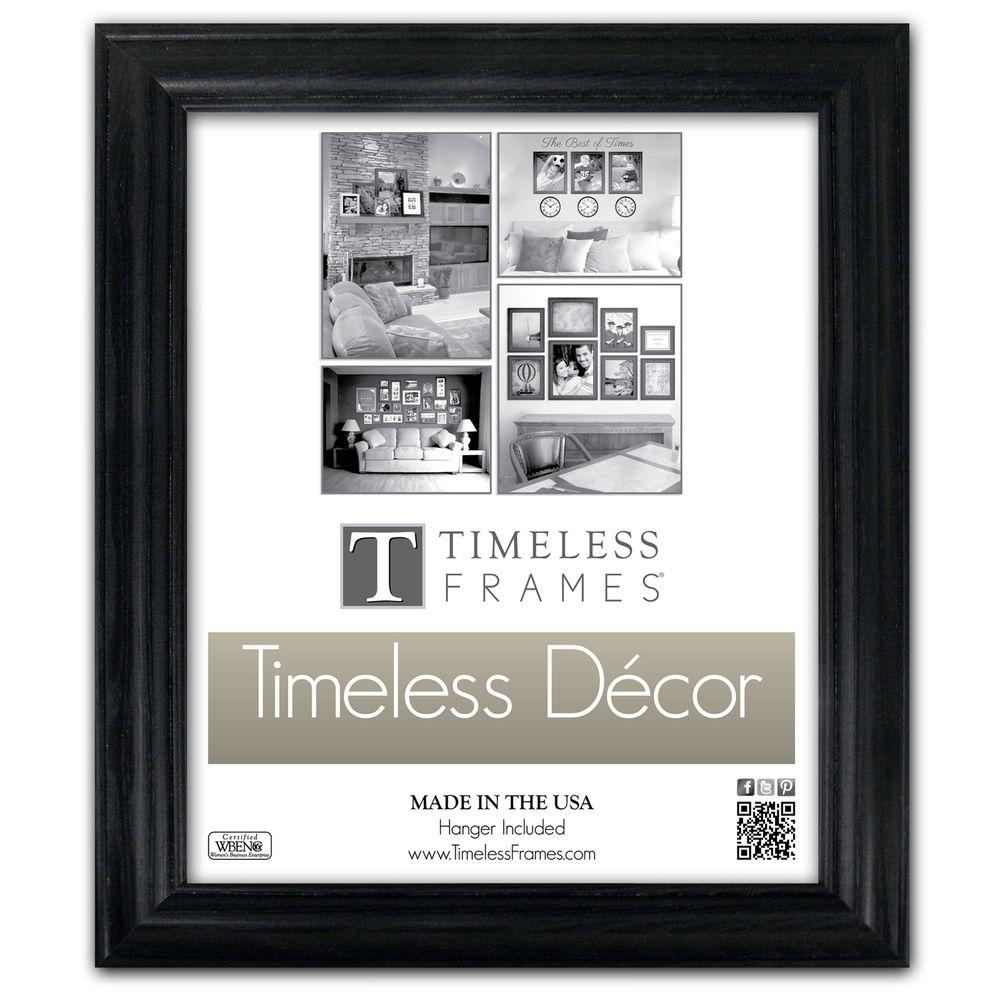 Timeless Frames Brenna 1-Opening 16 in. x 20 in. Black Picture Frame