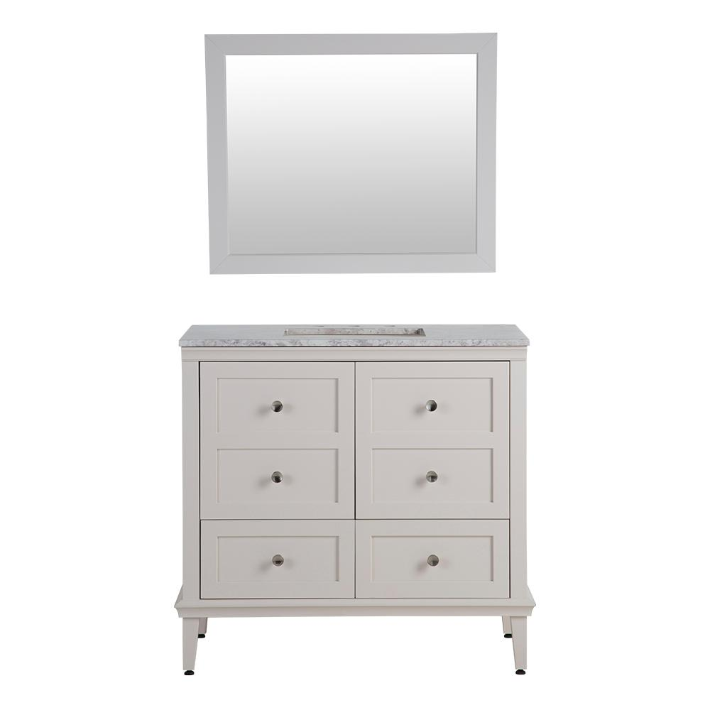 Home Decorators Collection Abbotsford 36.5 in. W Vanity in Cream ...
