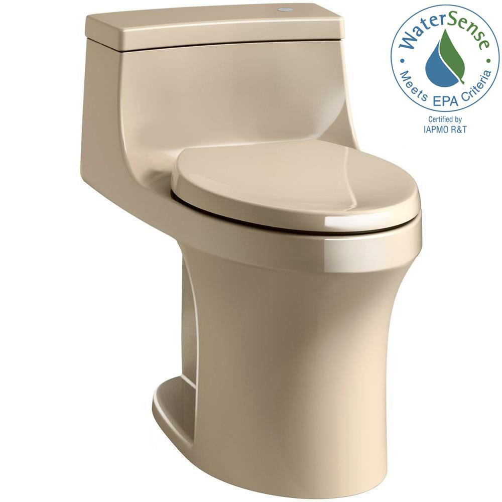San Souci Touchless Comfort Height 1 Piece 28 Gpf Single Flush Elongated Toilet With Aquapiston