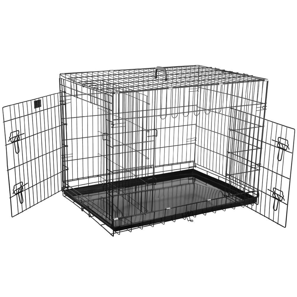36 in. L x 25 in. W Heavy-Duty Folding Pet Crate