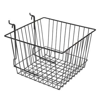 12 in. x 12 in. x 8 in. Black Slatwall Basket (6-Pack)