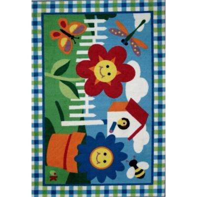 Olive Kids Happy Flowers Multi Colored 3 ft. x 5 ft. Area Rug