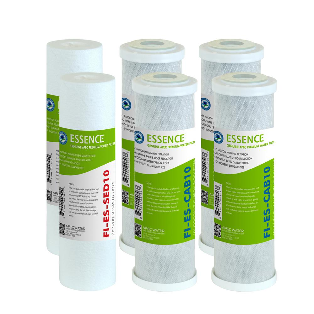 Essence 10 in. Standard Capacity First 3-Stage RO Replacement Filter (Bundle