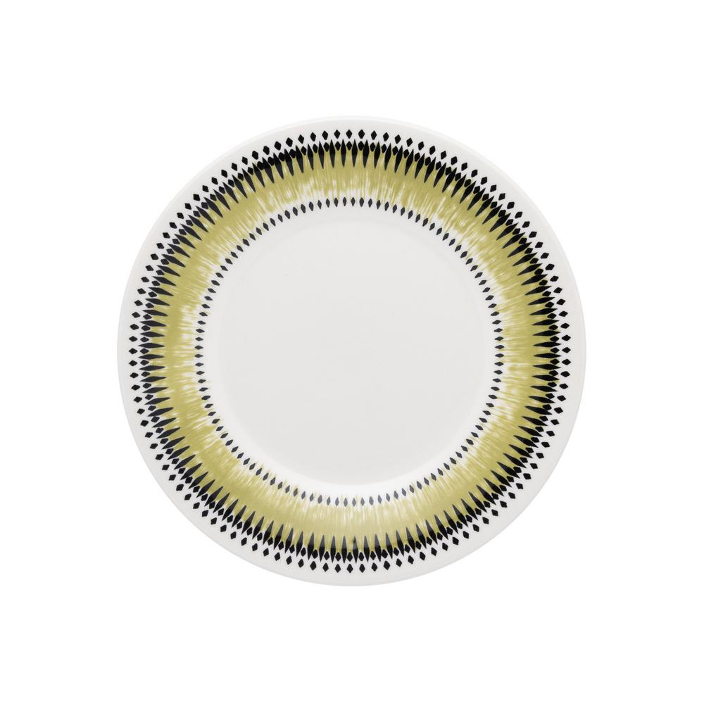 Manhattan Comfort 7.48 in. Actual Green and Black Salad Plates (Set of 6) was $59.99 now $28.23 (53.0% off)