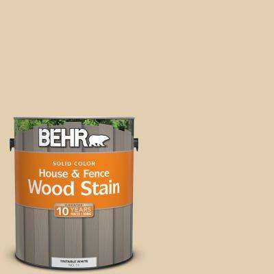1 gal. #HDC-AC-09 Concord Buff Solid Color House and Fence Exterior Wood Stain