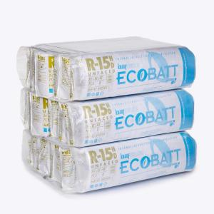 R-15 EcoBatt Unfaced Fiberglass Insulation Batt High Density 3-1/2 in. x 15 in. x 93 in. (15-Bags)
