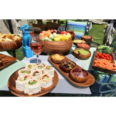 4-Piece Wooden Appetizer Serving Tray