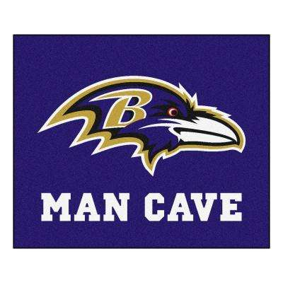 Baltimore Ravens Purple Man Cave 5 ft. x 6 ft. Area Rug