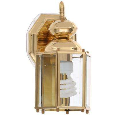Brass Guard Collection 5.5 Inch Polished Brass Outdoor Wall Lantern
