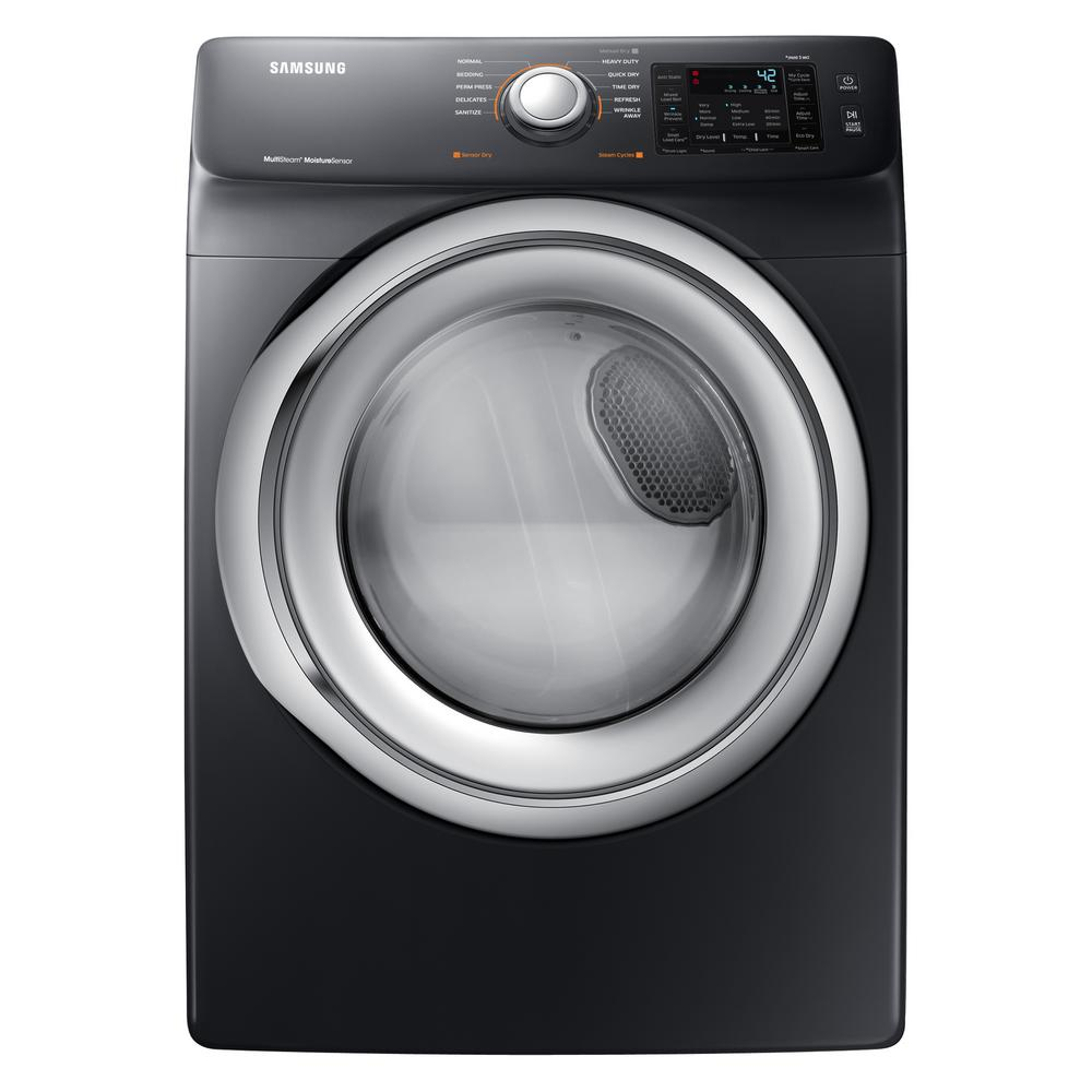 Samsung 75 Cu Ft Electric Dryer With Steam In Black Stainless Washing Machine Wiring Diagram