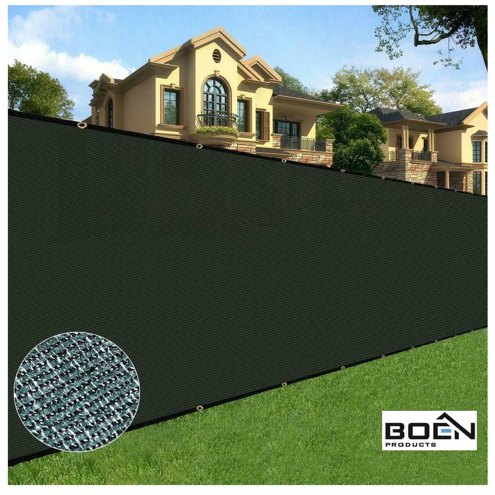 Boen 6 Ft X 50 Ft Black Privacy Fence Screen Netting