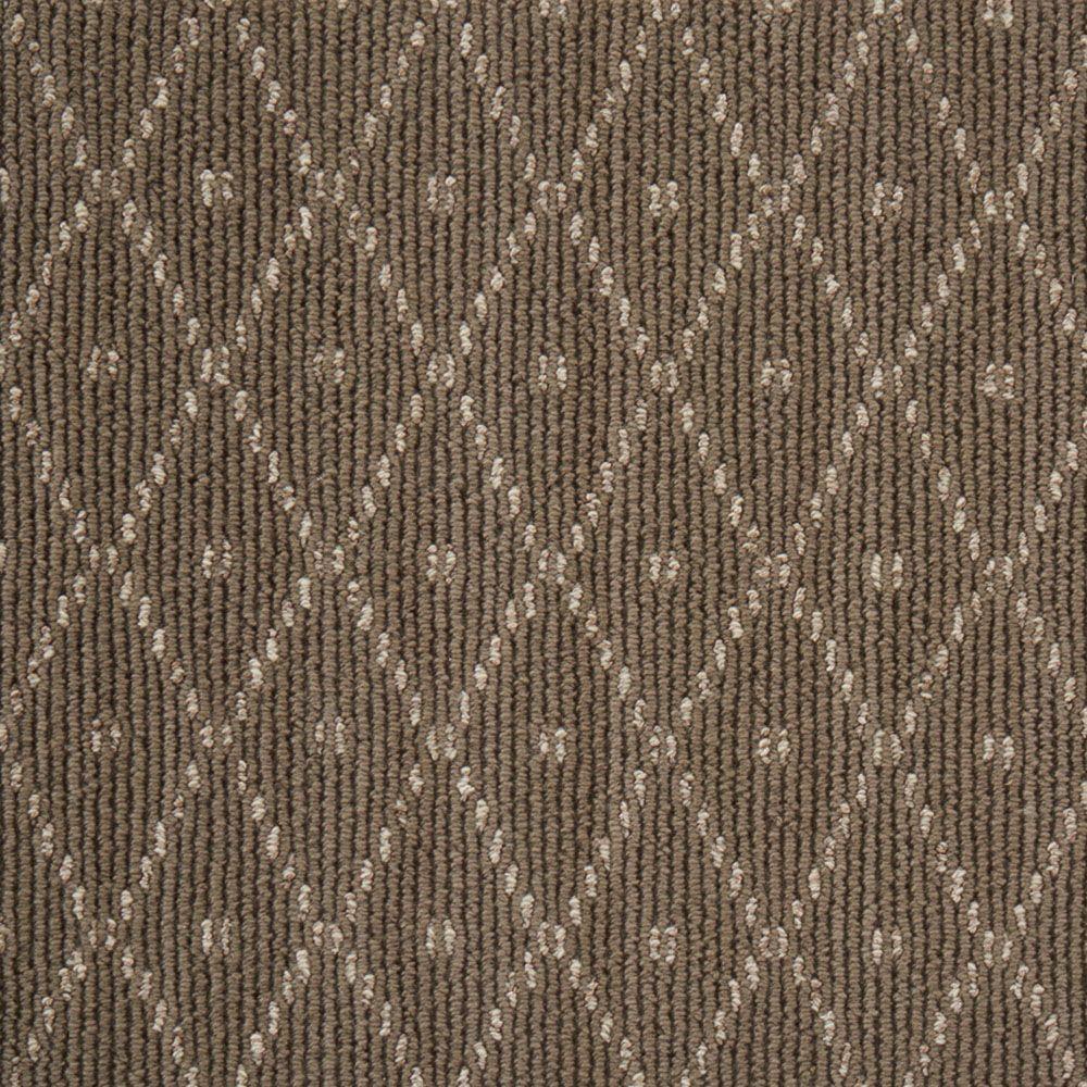 Merino Diamond Dot - Color Driftwood Loop 12 ft. Carpet