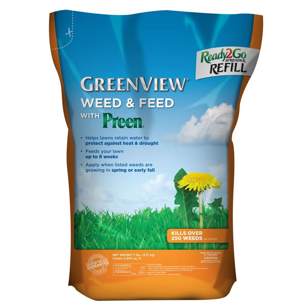 GreenView 7 lb. Weed and Feed with Ready2Go Spreader Refill Bag