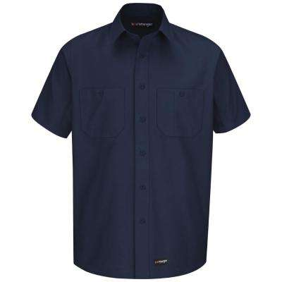 Men's Size L (Tall) Navy Work Shirt