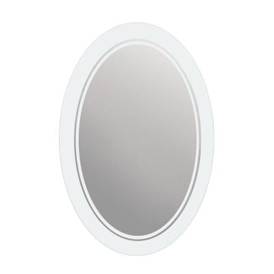 29 in. x 23 in. Frosted Oval Mirror