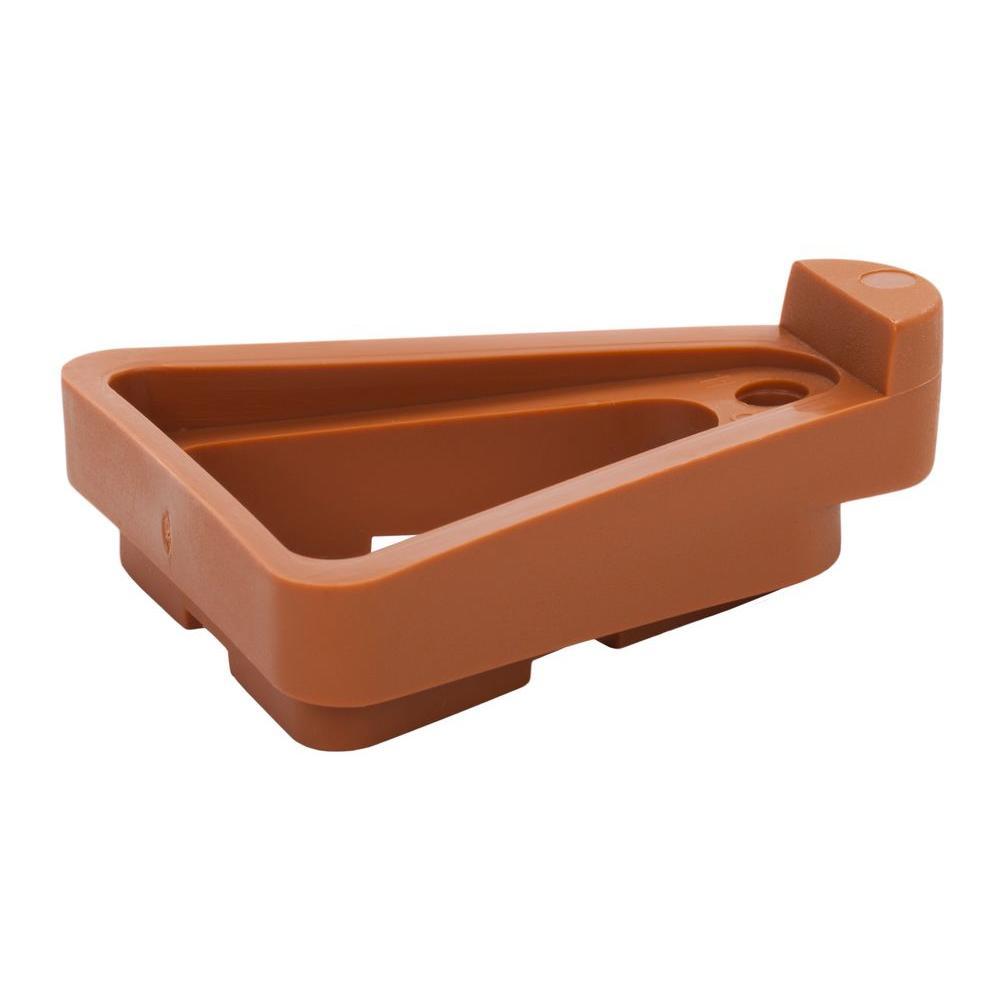 1.5 in. x 9 in. Terra-Cotta Plastic Pot Toes (12-Pack)