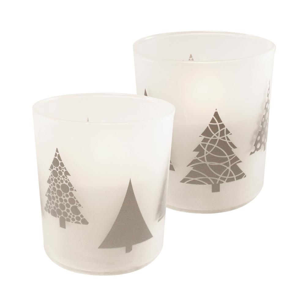 LUMABASE Christmas Trees Battery Operated LED Candles (2-Count)