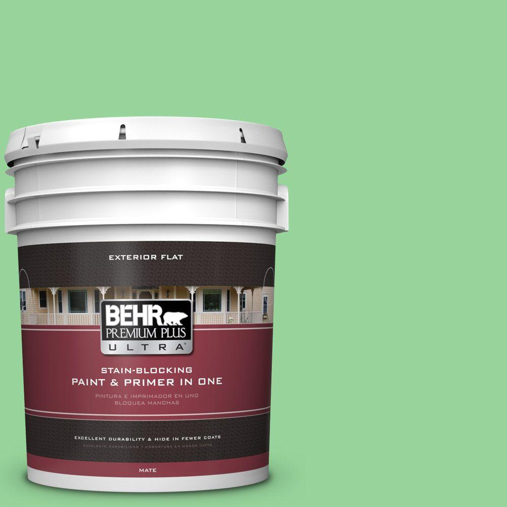5-gal. #P390-4 Young Green Flat Exterior Paint