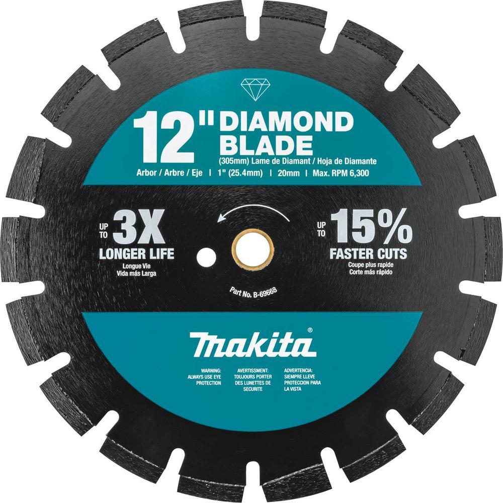 12 in. Segmented Rim Dual Purpose Diamond Blade