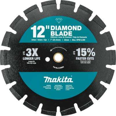 12 in. Segmented Rim Dual Purpose Diamond Blade