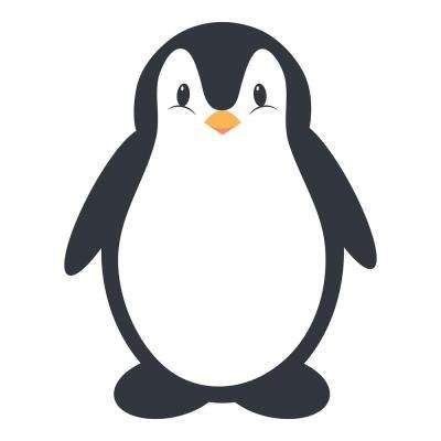 18.5 in. x 26.4 in. Penguine Whiteboard Wall Decal