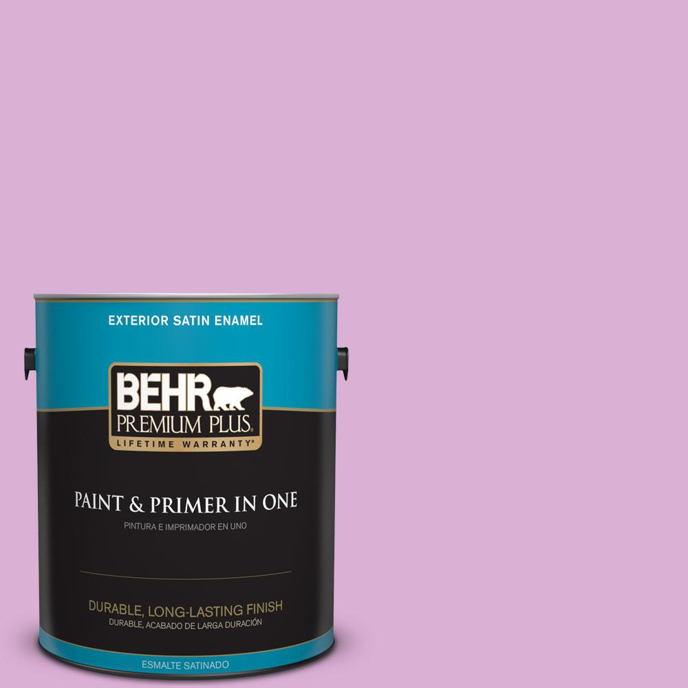 BEHR Premium Plus 1-gal. #P110-3 BFF Satin Enamel Exterior Paint