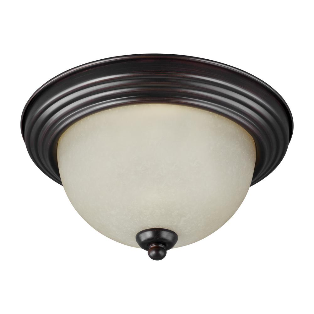 Ceiling Flush Mount 3-Light Burnt Sienna Flushmount