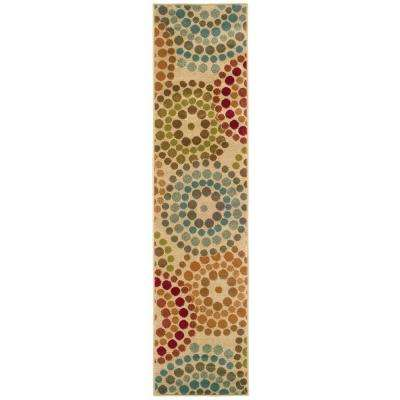 Spiral Mosaic Tan 2 ft. x 8 ft. Runner Rug