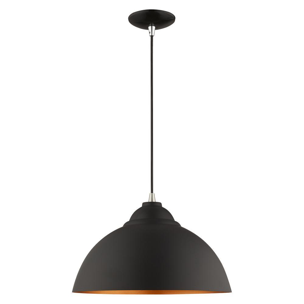 Livex Lighting 1-Light Black Mini Pendant