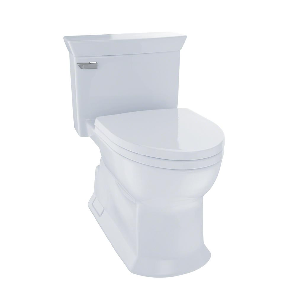 TOTO Eco Soiree 1 Piece 128 GPF Single Flush Elongated Skirted Toilet With CeFiONtect In