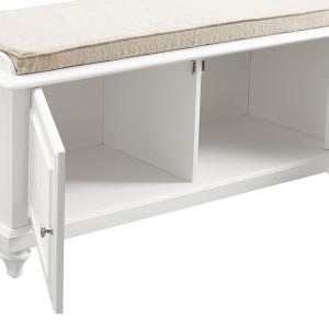 Astonishing Crosley Palmetto White Entryway Bench Cf6010 Wh The Home Depot Cjindustries Chair Design For Home Cjindustriesco