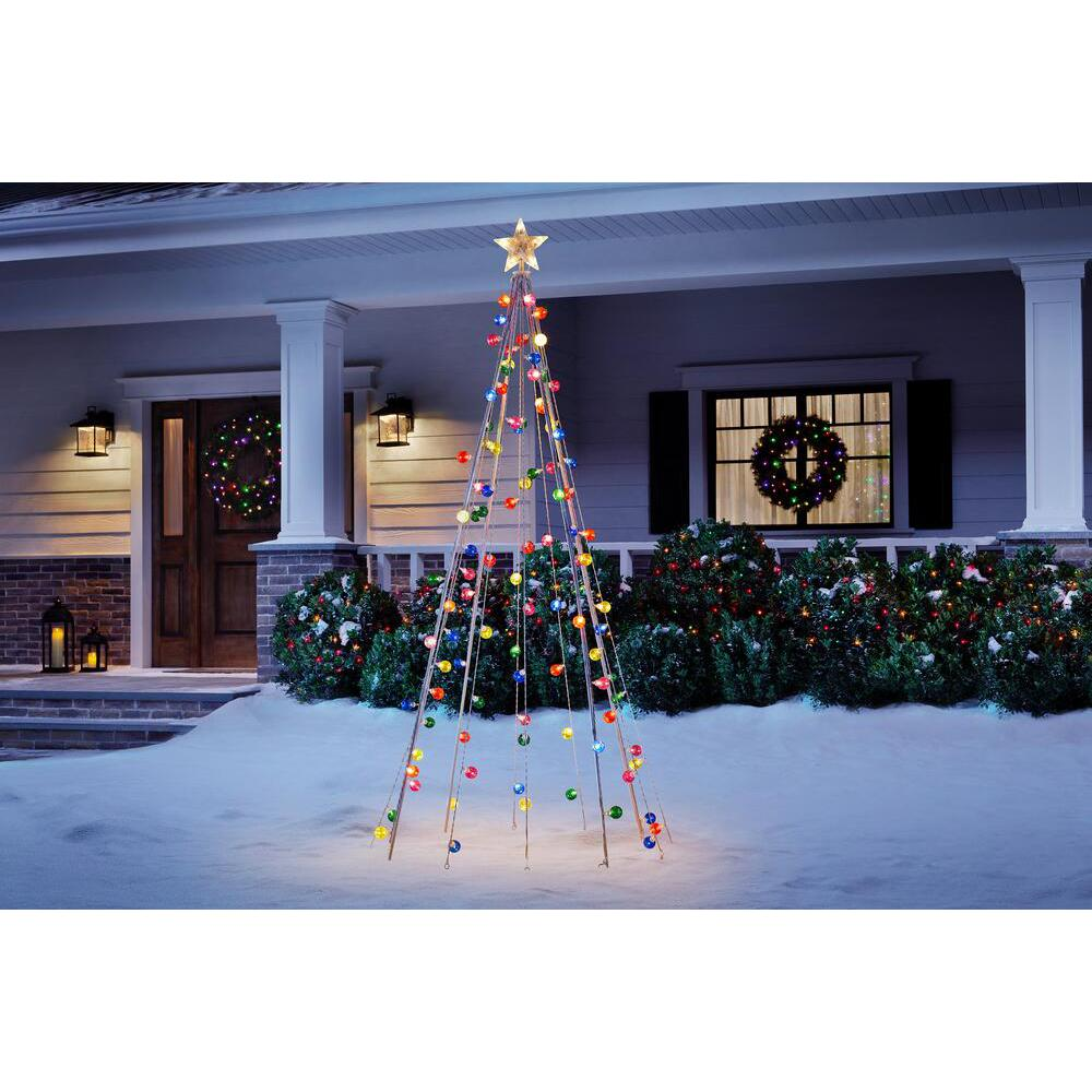 Home Accents Holiday 7 ft Cone Tree with 105 Multi Color Lights