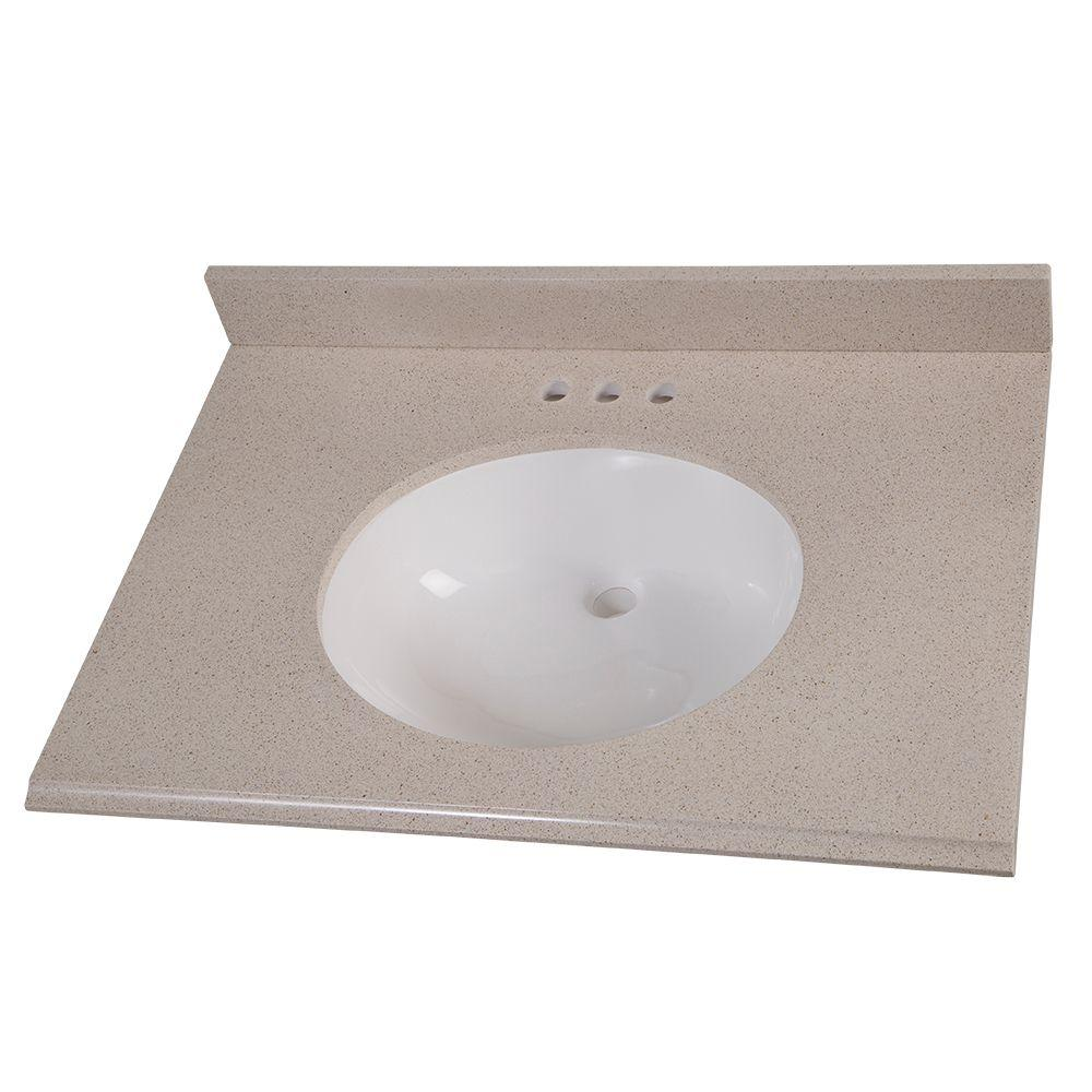 Home Decorators Collection 31 In Colorpoint Vanity Top Maui With White Basin