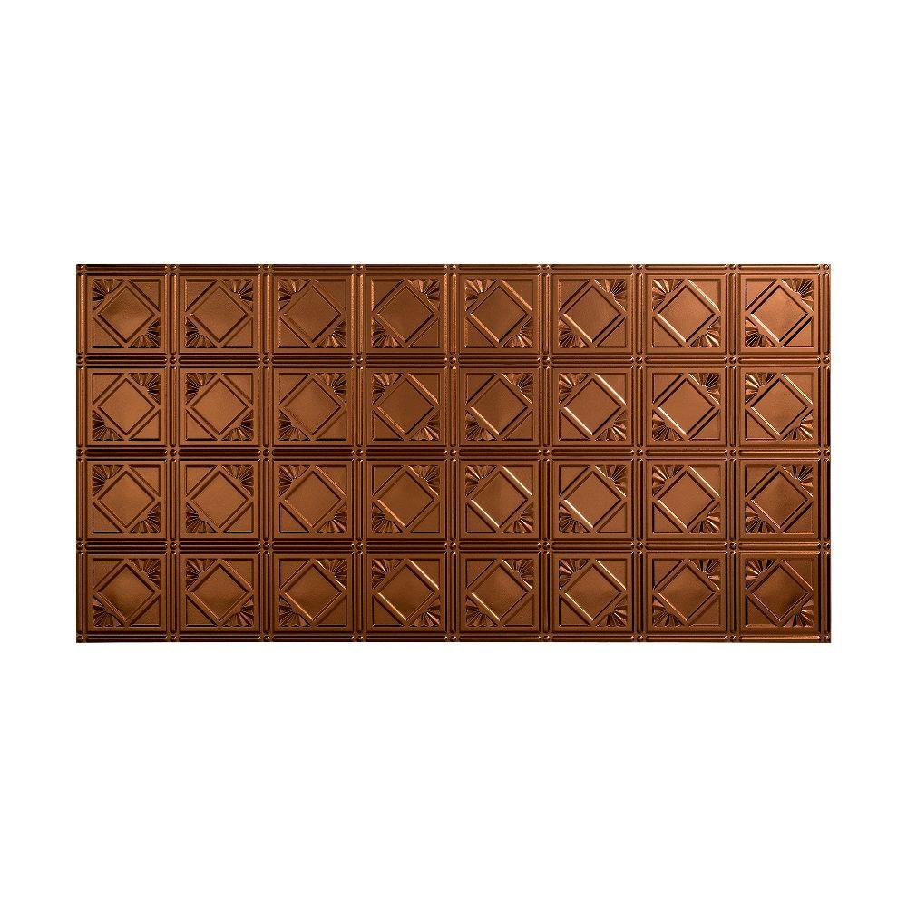 Fasade Traditional 4 - 2 ft. x 4 ft. Glue-up Ceiling Tile in Oil Rubbed Bronze