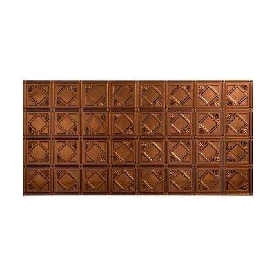 Traditional 4 - 2 ft. x 4 ft. Glue-up Ceiling Tile in Oil Rubbed Bronze