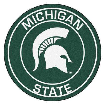 NCAA Michigan State University Green 2 ft. x 2 ft. Round Area Rug