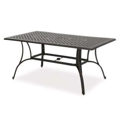 Alfresco Bronze Rectangular Aluminum Outdoor Dining Table
