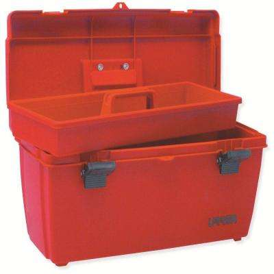 20 in. Plastic Red Tool Box with Metal Clasps